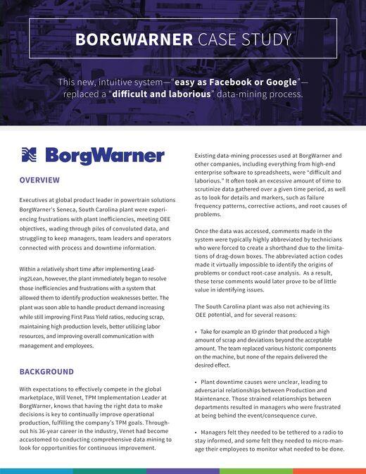 BorgWarner Case Study