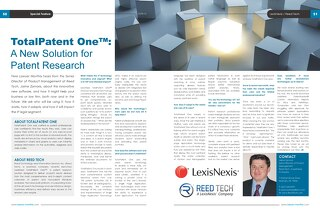 TotalPatent One™: A New Solution for Patent Research