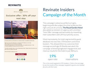 Insiders Campaign of the Month: The Royal Garden Hotel