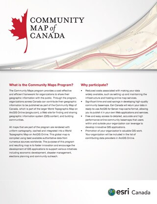 Community Map of Canada Program
