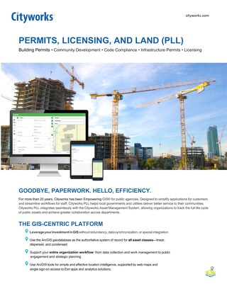 Cityworks Server PLL (Permits, Licensing & Land) Solution
