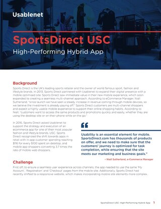 SportsDirect Case Study