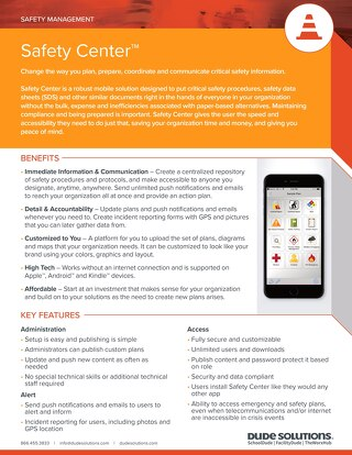 Safety Center Datasheet