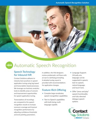 IVR Speech Recognition