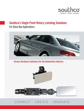 Single Point Rotary Latching Solutions for Gloveboxes