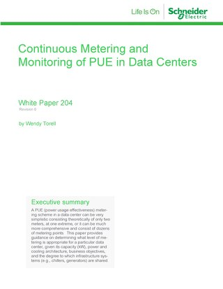 WP 204 - Continuous Metering and Monitoring of PUE in Data Centers