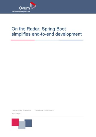 Spring Boot Simplifies End-to-End Development