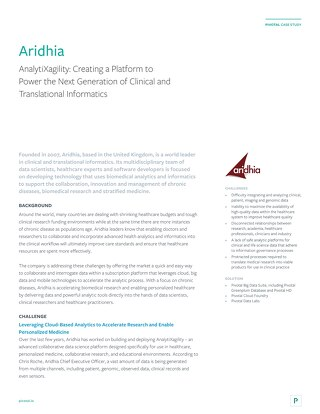 Aridhia: Creating a Platform to Power the Next Generation of Clinical and Translational Informatics