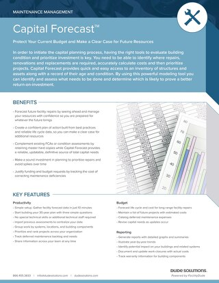 Capital Forecast Datasheet