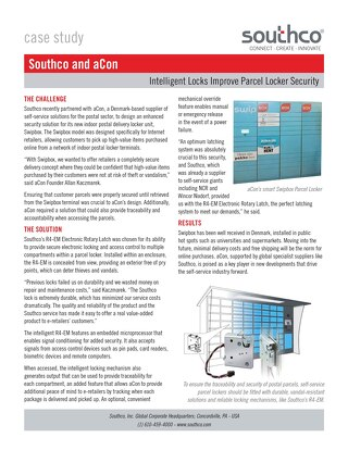 Southco & aCon: Intelligent Locks Improve Parcel Locker Security