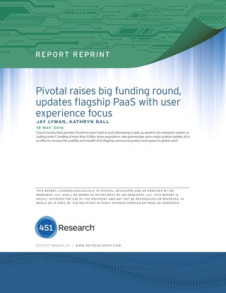 Pivotal Raises Big Funding Round, Updates Flagship PaaS with User Experience Focus