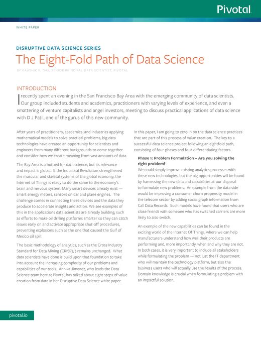 The Eight-Fold Path of Data Science