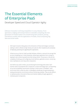 The Essential Elements of Enterprise PaaS