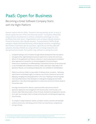 PaaS: Open for Business