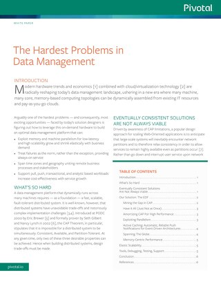 The Hardest Problems in Data Management