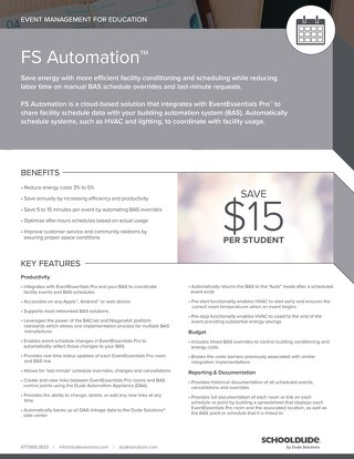 FS Automation for Education Datasheet
