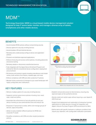 MDM for Education Datasheet