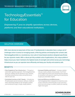 TechnologyEssentials for Education Datasheet