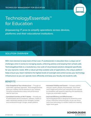 TechnologyEssentials for Education Datasheet