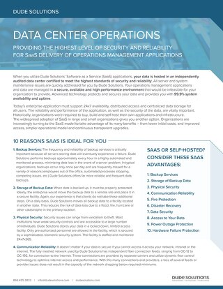 Data Operations Datasheet