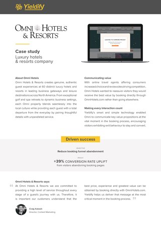 Yieldify case study - Omni Hotels