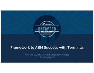 Rosetta Stone's Framework to ABM Success with Terminus