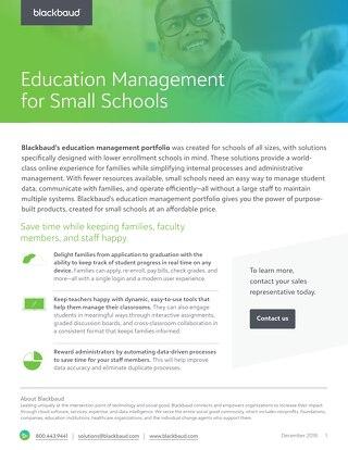 "Blackbaud ""ON"" for Small Schools"