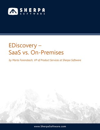 eDiscovery-SaaS vs OnPremises
