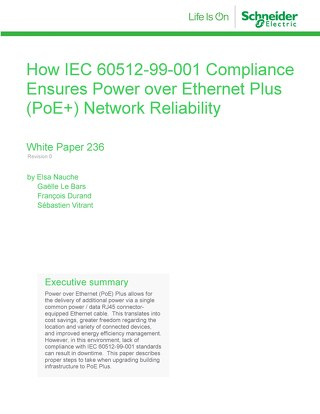 WP 236 - How IEC 60512-99-001 Compliance Ensures Power Over Ethernet Plus (PoE+) Network Reliability