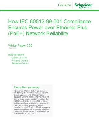 WP 236 - How IEC 60512-99-001 Compliance Ensures Power Over Ethernet Plus (PoE+) Network Reliability