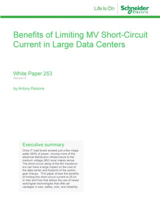 WP 253 - Benefits of Limiting MV Short Circuit Current in Large Data Centers