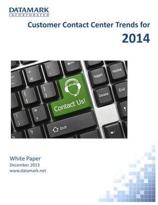 Customer Contact Center Trends for 2014