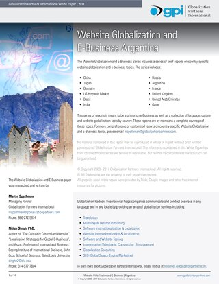 Website Globalization and E-Business - Argentina