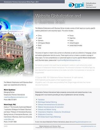Website Globalization and E-Business - Brazil