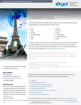 Website Globalization and E-Business - France