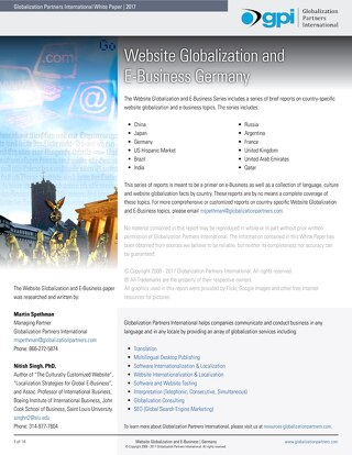 Website Globalization and E-Business - Germany