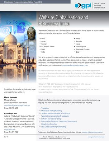 Website Globalization and E-Business - India