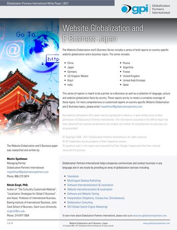 Website Globalization and E-Business - Japan