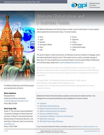 Website Globalization and E-Business - Russia