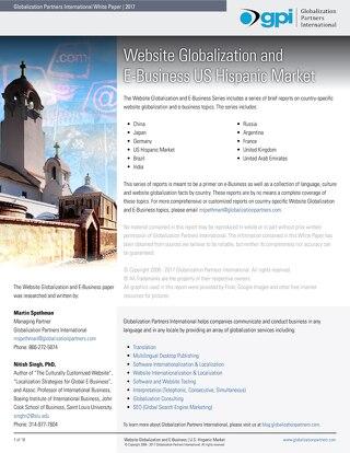 Website Globalization and E-Business - U.S. Hispanic Market