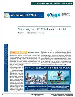 Washington D.C. Coalition: Website Localization