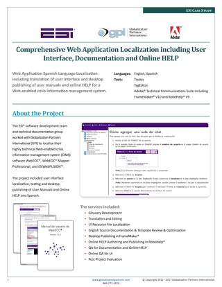 ESi: Web Application Localization Case Study