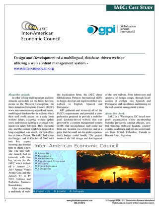 Inter-American Economics Council: Website Design and Development Case Study