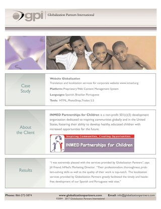 INMED Partnerships for Children: Website Localization Case Study