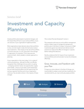 Investment and Capacity Planning