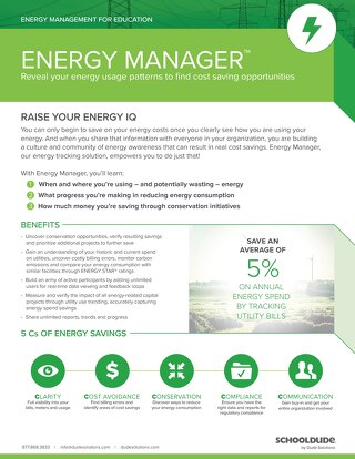 Energy Manager for Education Datasheet