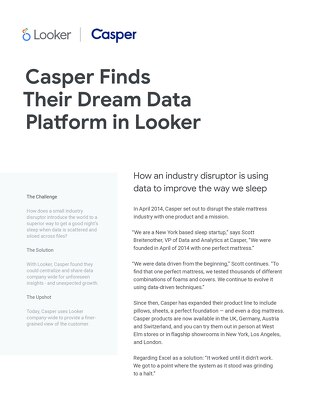 Casper Finds Their Dream Data Platform in Looker