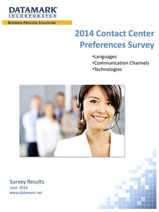 2014 Contact Center Preferences Survey