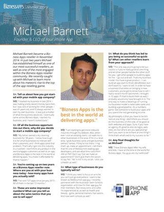 Reseller Success Story - Michael Barnett