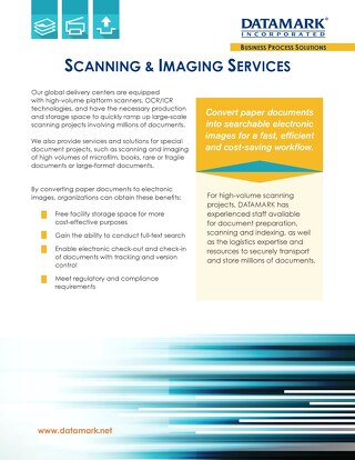 Scanning & Imaging Services Brochure